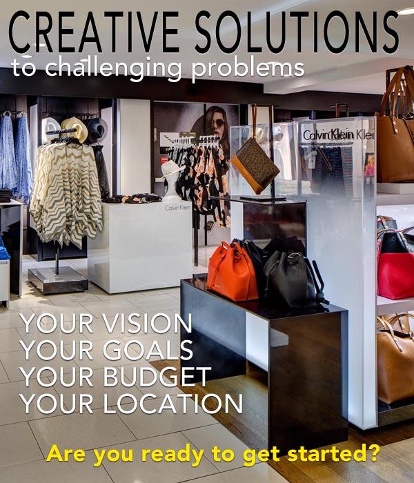 retail store build out, custom designed retail displays, metal, wood, VDI, Syracuse, NY