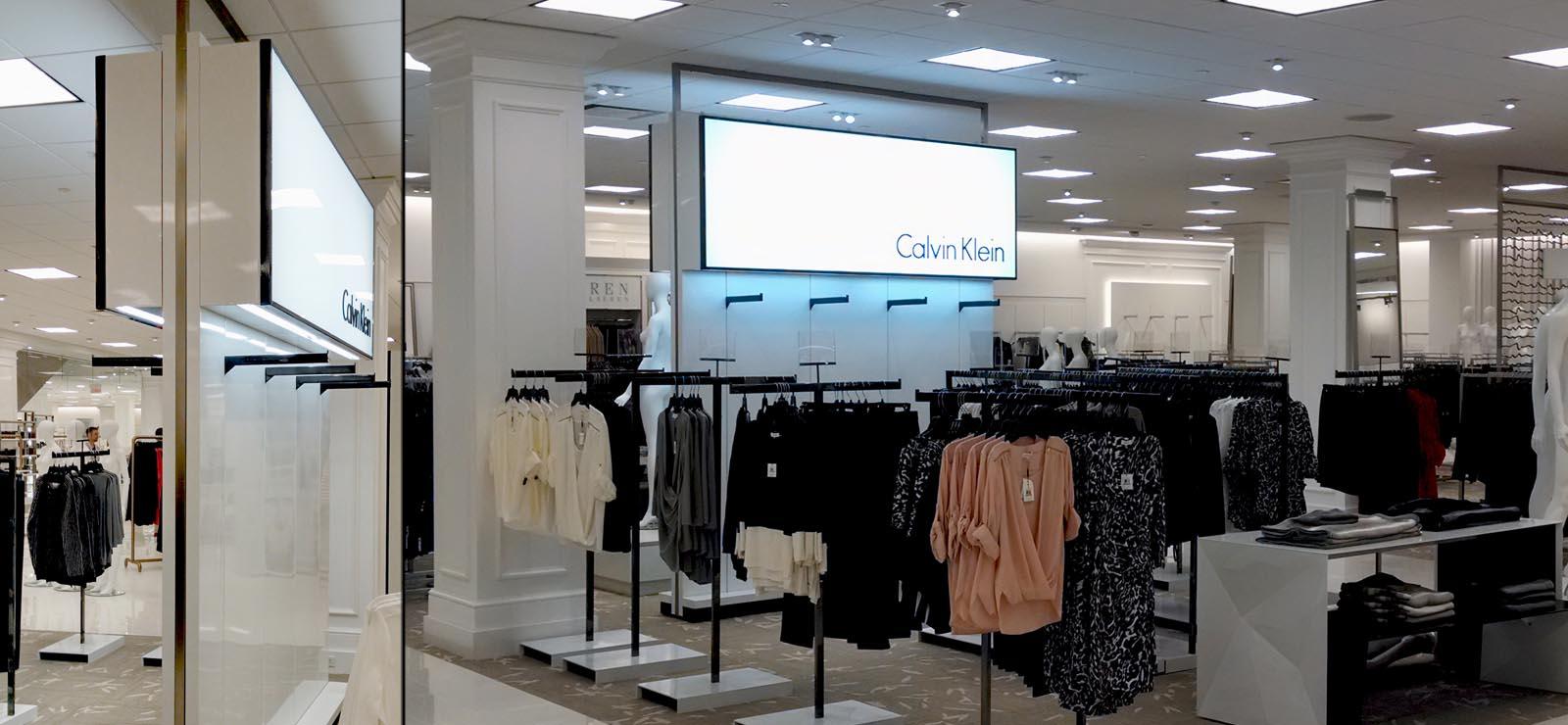 custom lighting fixtures, signage, retail industry, VDI Inc, New York